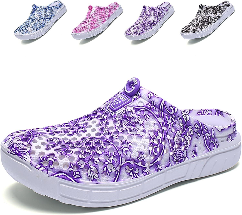 WAWEN Womens Summer Breathable Mesh Sandals,slippers,Beach Footwear,Water shoes,Walking,Garden Clog shoes Purple2 41 M EU