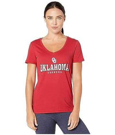 Champion College Oklahoma Sooners University V-Neck Tee (Cardinal 4) Women