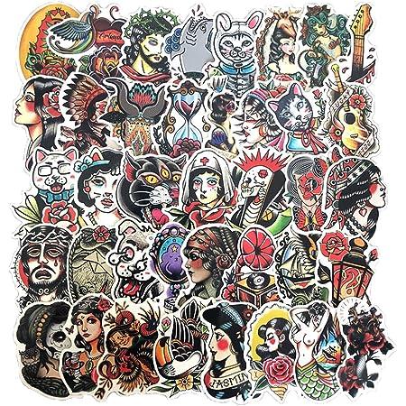 #11 Tattoo Girl Skateboard Sticker Pin Up