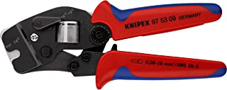 KNIPEX 97 53 09 Self-Adjusting Crimping Pliers for End Sleeves (ferrules) with front loading burnished with multi-componen...