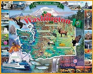 White Mountain Puzzles Washington State - 1000 Piece Jigsaw Puzzle