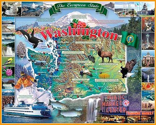 salida blanco Mountain Puzzles Washington State - 1000 Piece Piece Piece Jigsaw Puzzle by blanco Mountain Puzzles  mejor calidad mejor precio