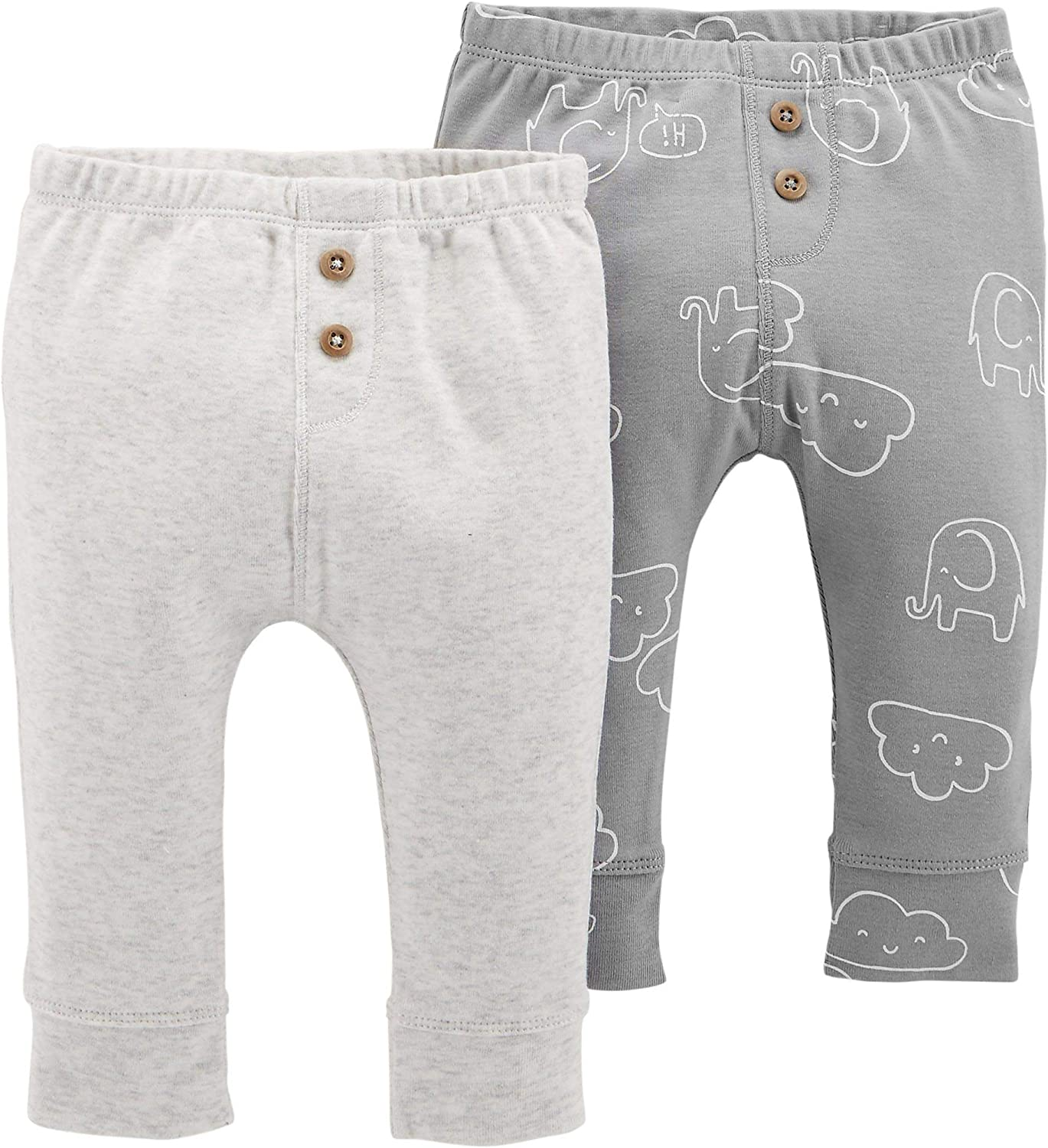 Carter's Baby Boys 2-Pack Pull-On Pants Cheap bargain Spring new work one after another