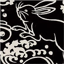 Traditional Japanese Rabbit Black White - Kokka Japan Cotton Canvas Fabric