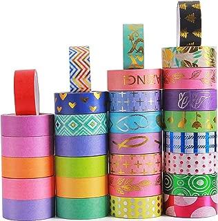 24 Rollen dekorativer Klebstoff Washi Masking Tape Sticker im japanischen Stil f/ür Kunst und Heimwerker Scrapbooking Planer Vidillo Washi Tape Set versch/önern Bullet Journals