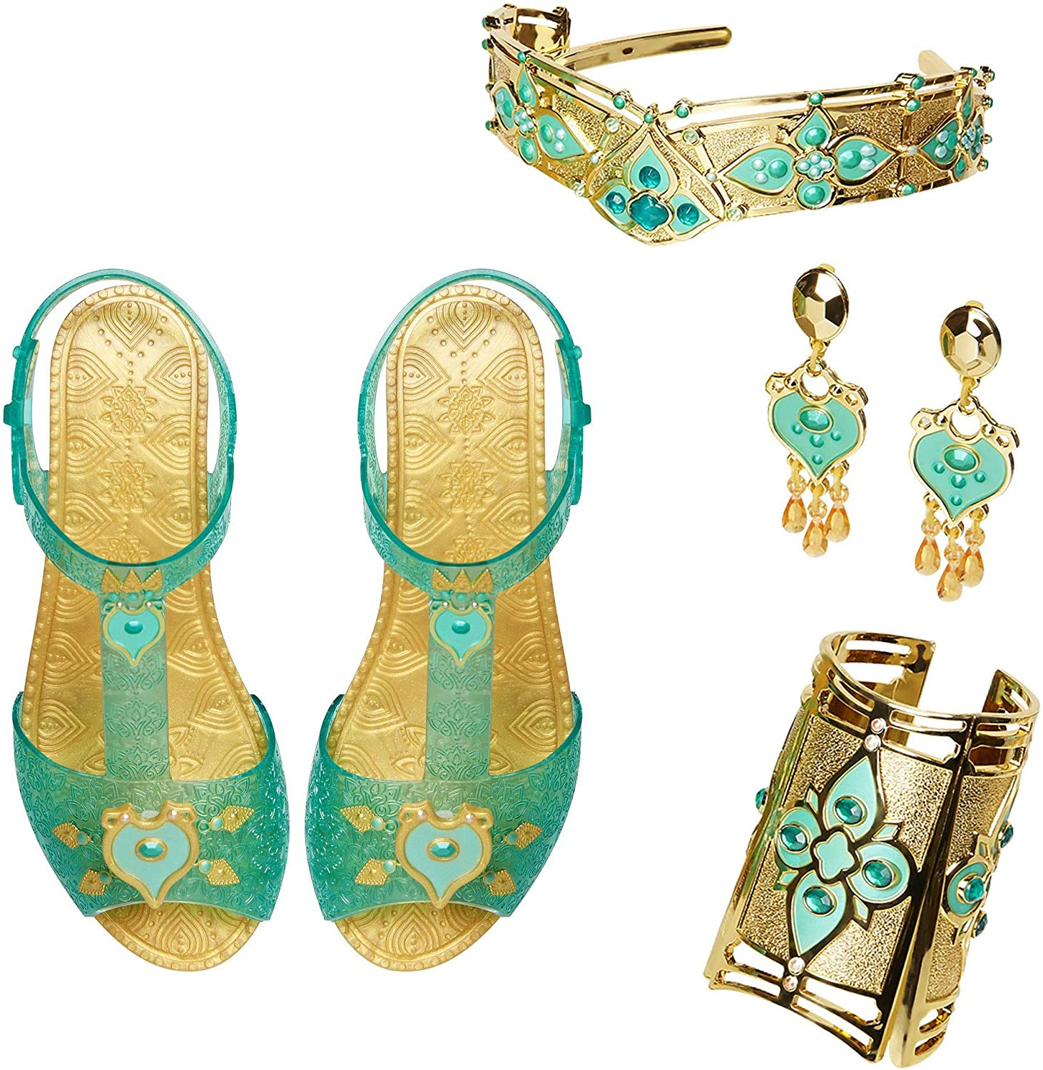 Aladdin Today's only Disney Jasmine Deluxe Royal Sho Accessory Set Includes: Fixed price for sale