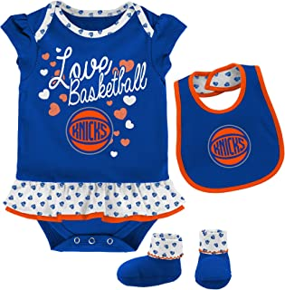 NBA Unisex-Baby NBA Newborn & Infant Little Sweet Onesie, Bib and Bootie