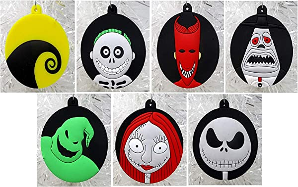 Ornament Nightmare Before Christmas Holiday Christmas Set Unique Shatterproof Plastic Design