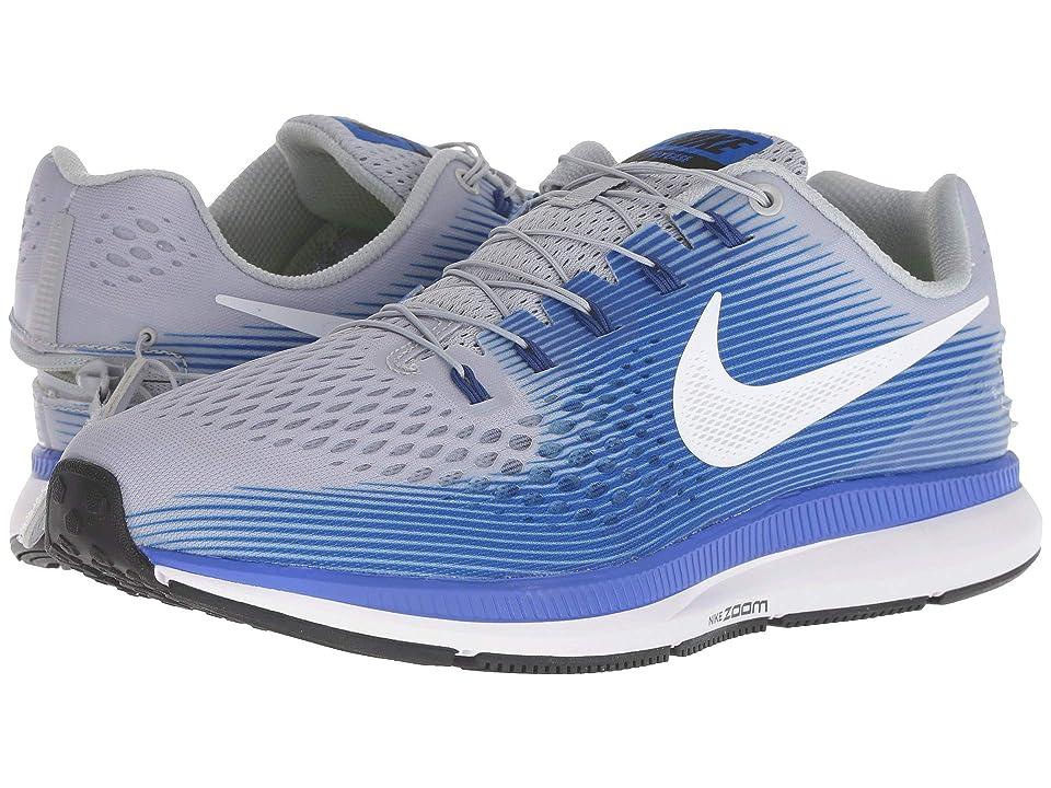Nike Air Zoom Pegasus 34 FlyEase (Wolf Grey/White/Racer Blue) Men