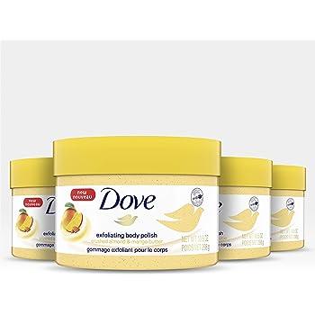 Amazon Com Dove Crushed Almond Mango Butter Exfoliating Body Polish Scrub 10 5 Fl Oz Beauty