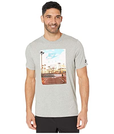 Nike NSW Short Sleeve Tee Court 1 (Dark Grey Heather) Men