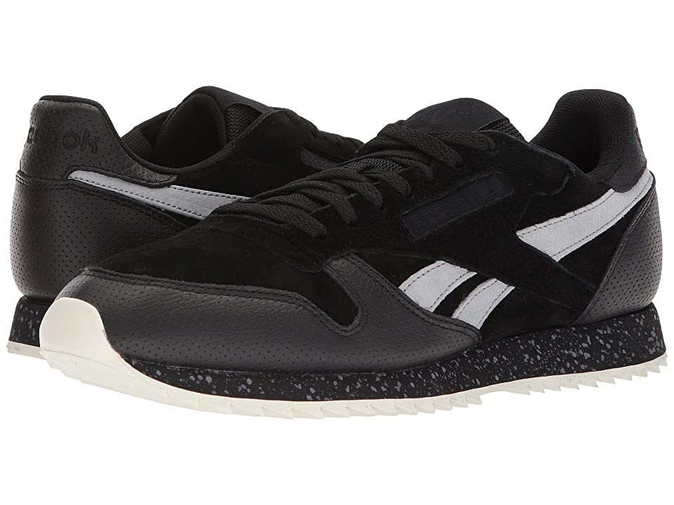 Reebok Lifestyle Classic Leather Ripple SM (Black/Cool Shadow/Chalk) Men