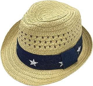 Infants Toddlers Staw Fedora Hat Summer Sun Hat Kid Beach Outdoor Panama Hat