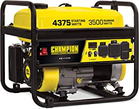 Champion 100559 3500-Watt RV Ready (EPA) Portable Generator, 4.7 gal, Yellow