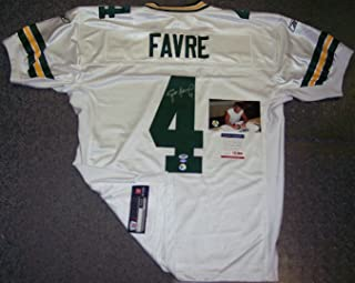 Brett Favre Autographed Hand Signed Official Reebok Green Bay Packers White Authentic Jersey - PSA/DNA