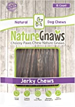 Nature Gnaws Junior Jerky Sticks 5-6 inch - 100% Natural Beef Chews for Small Dogs