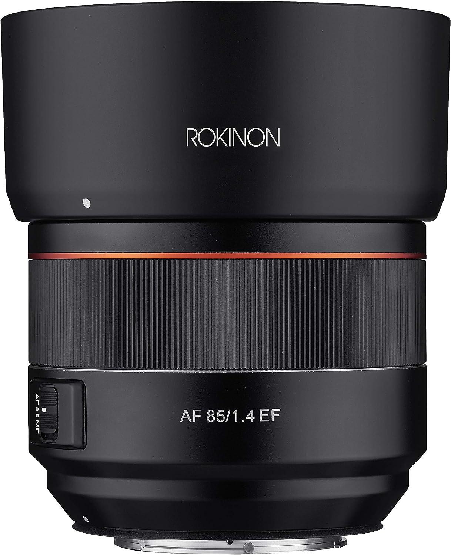 Rokinon 85mm F1.4 AF Outlet ☆ Free Shipping Lens New color for EF Canon IO85AF-C Mount Black