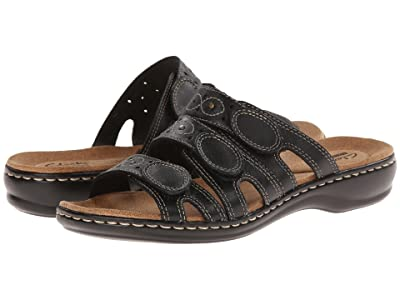 Clarks Leisa Cacti Q (Black Leather) Women