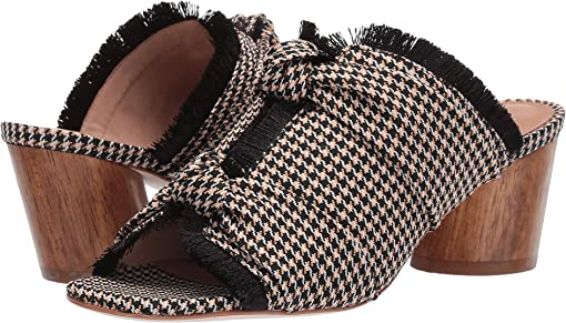 Sand/Black Mini Houndstooth