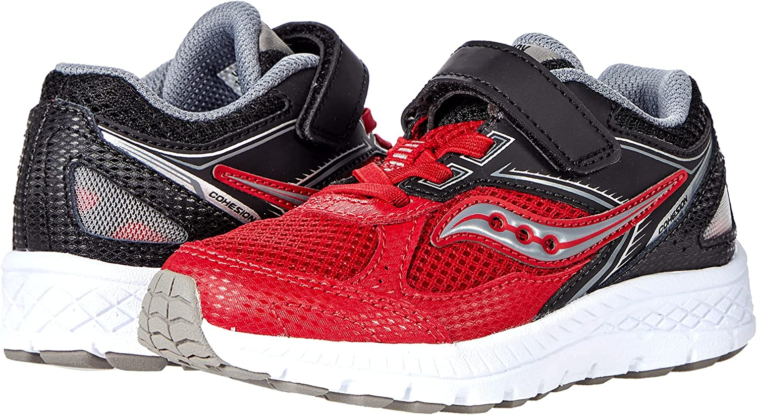 Free shipping / New Saucony Cohesion 14 Alternative Closure Black Shoe RED OFFicial mail order Running