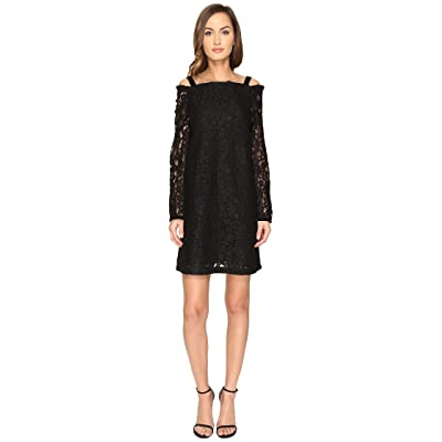 See by Chloe Lace Long Sleeve Straps Dress (Black) Women