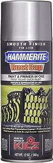 Masterchem Industries 42205 Hammerite Rust Cap Smooth Enamel Finish, 12 Oz Aerosol Can, 18 Sq.-Ft/Gal, Aluminum,