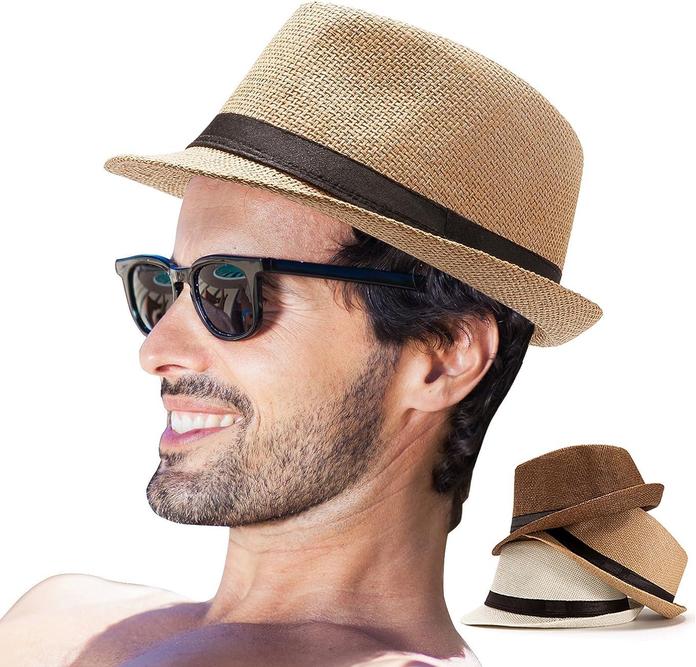 LADYBRO Sale SALE% OFF Mens Fedora Genuine Hats for Men Panama - Straw H Hat