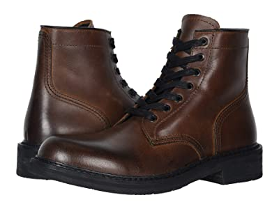 FRYE AND CO. Peak Work Boot (Dark Brown Pull Up Grain Leather) Men