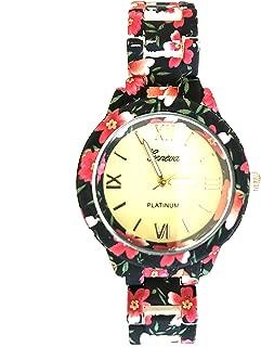 Best geneva watch flower print Reviews
