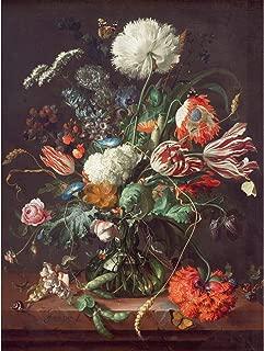Jan Davidsz De Heem Vase of Flowers Large Art Print Poster Wall Decor Premium Mural