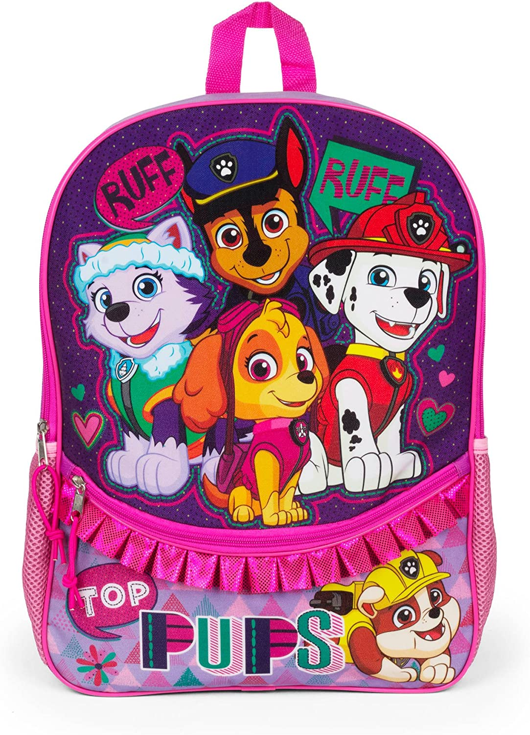Paw Patrol 16 Backpack with Ruffle Top Pups