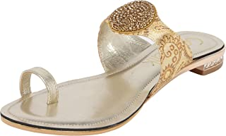 Catwalk Gold Slip-on Sandals