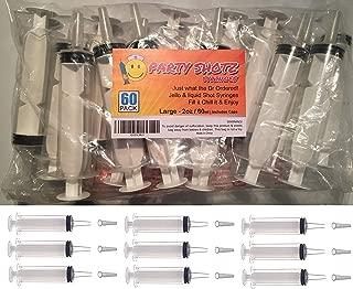 60 Pack Party Shotz Jello Shot Syringes (Large 2oz with CAPS)