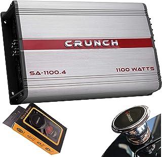 $76 » Crunch SA-1100.4 Smash Series 1,100-Watt 4-Channel Class AB Amp Car Audio Sound System Subwoofer Speaker Amp Amplifier wit...