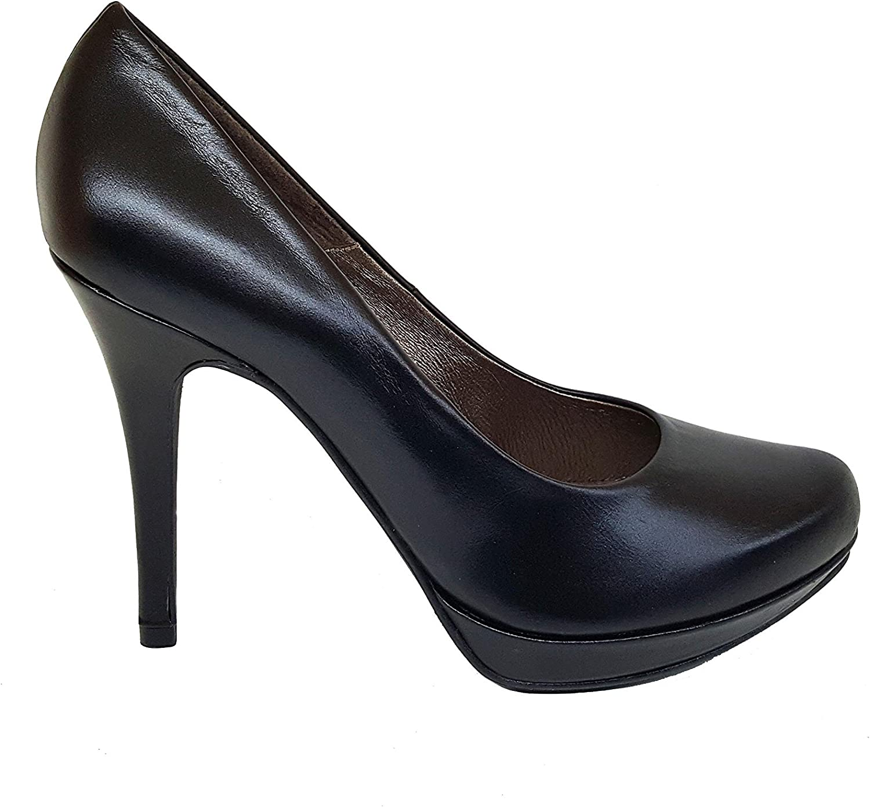 GENNIA COPLA - kvinnor Closed Closed Closed Toe läder Pump Stiletto Heel 9 cm Plattform 1 cm  low-key lyxkonflikt