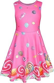 Girls Dress Summer Sleeveless Kids Toddler Little Girl Unicorn Mermaid Dinosaur Casual Party Twirl Dresses Floral Sundress