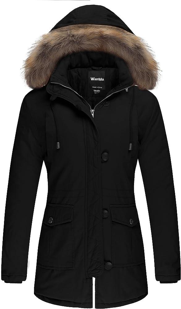 Wantdo, cappotto caldo invernale per donna,con capuccio TGZZ2096