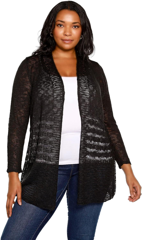 Cardigan for Women Lightweight Long Sleeve Crochet Open Front Plus Size Cardigan
