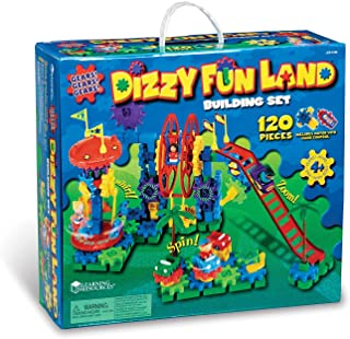 Learning Resources Gears! Gears! Gears! Dizzy Fun Land Motorized Gears Toy Set, 120 Pieces, Ages 5+