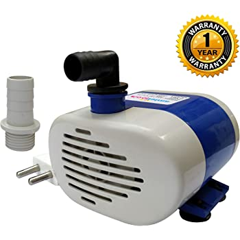 amiciTools 18 Watt Lifting 1.6 Meters Submersible Water Pump for Desert Air Cooler Aquarium Fountains with LVs Technology