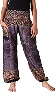 Bangkokpants Plus Size Harem Pants Boho Clothing Hippie Peacock Size US 16-22