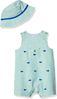 Baby Boy's Sunsuit with Hat Pants