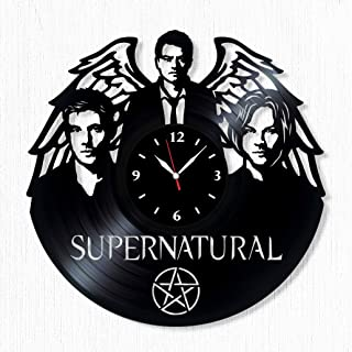 SofiClock Supernatural Vinyl Record Wall Clock 12