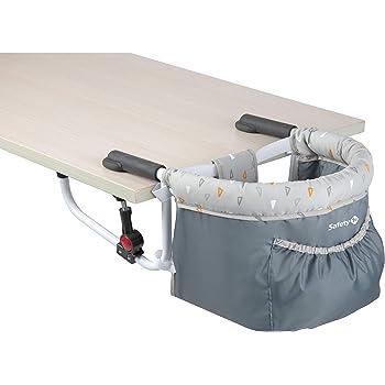 Fast Trona con Cintur/ón de Seguridad Sillita Ajustable A La Mesa Mesa Asiento de mesa para beb/é plegable Trona de Viaje Arn/és de 7 puntos 6-36 meses Surplex Trona Port/átil Beb/é Negro