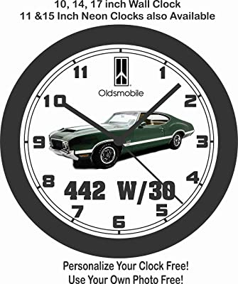 amazon 1984 chevrolet corvette wall clock home kitchen 1982 Hurst Olds jim s classic clocks 1970 oldsmobile 442 w30 big 10 inch wall clock free usa ship
