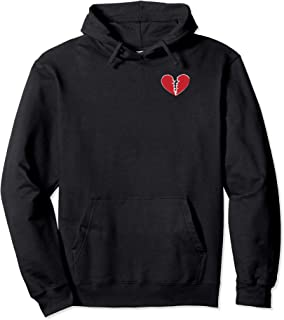 Broken Heart Love Sad Break Up Heartbroken Pullover Hoodie