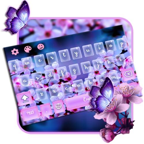 purple Sakura blossom Keyboard