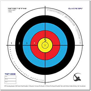 Perfect Strike ARCHERY System Targets. CLASSIC OPS No. 005. Heavy paper practice targets. Great for improving accuracy. Replacement faces to refresh portable targets. 12