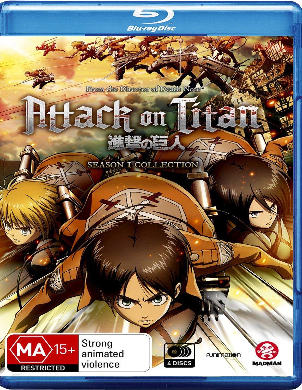 Attack on Titan Season free 1 4 Safety and trust Discs For Anime Manga NON-USA