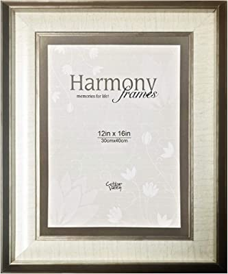 Harmony Frames 12x16 Bordered Matted Wood Picture Frame (Copper, Ivory Matted)